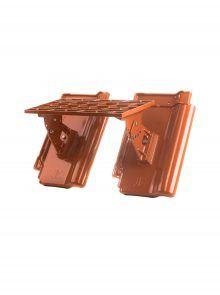 Kurzrost mit Grundpfannen für J11v Flachdachziegel - Zubehör Dachziegel