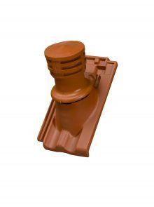 Tondunstrohr inkl. Durchlassziegel und Schlauch - Zubehör für Dopplemulden Falzziegel Z2