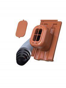 Sanitärlüfter mit Flexschlauch DN 125 - Zubehör für Dopplemulden Falzziegel Z2