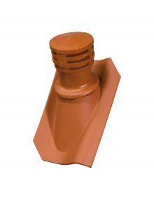 Tondunstrohr inkl. Durchlassziegel und Schlauch für Hohlpfanne H1 - Zubehör Dachziegel