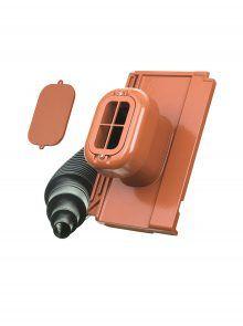 Sanitärlüfter mit Flexschlauch DN 125 für Verschiebeziegel Tegula - Zubehör Dachziegel