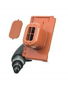 Sanitärlüfter mit Flexschlauch DN 125 - für Flachziegel Stylist - Zubehör Dachziegel